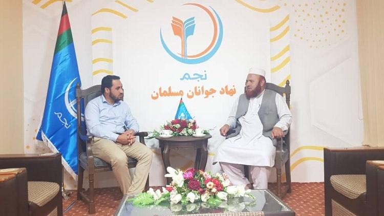 دیدار استاد عبدالفتاح جواد از دفتر مرکزی نجم